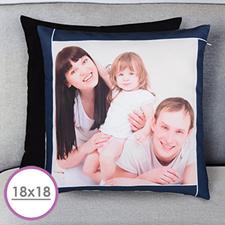 Navy Frame Personalized Large Cushion 18