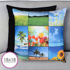 Nine Collage Personalized Large Cushion 18