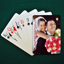 Wedding Anniversary Playing Cards, Cranberry Lace