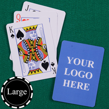 Large Size Classic Custom Front and Back Playing Cards