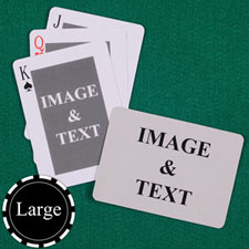 Large Size Classic Custom Front and Landscape Back Playing Cards