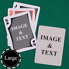 Large Size Modern Custom Front and Back Playing Cards