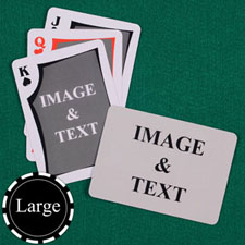Large Size Modern Custom Front and Landscape Back Playing Cards