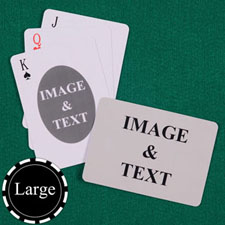 Large Size Ovate Custom Front and Landscape Back Playing Cards