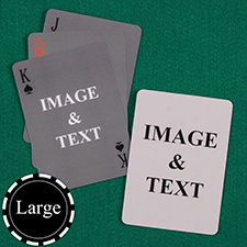 Large Size Simple Custom Front and Back Playing Cards