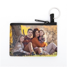 Personalized Photo Gallery Coin Purse W/Keyring 3.5 X 5 Inch