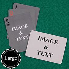 Large Size Simple Custom Front and Landscape Back Playing Cards