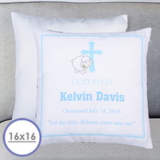 Boy Christening Personalized Pillow Cushion Cover 16