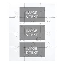 Three Photos Collage Portrait Puzzle