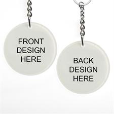 Custom Imprint Acrylic Keychain Round 2