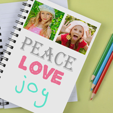 Personalized Peace, Love, Joy Notebook