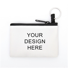 Personalized Custom Imprint Coin Purse W/Keyring 3.5 X 5 Inch