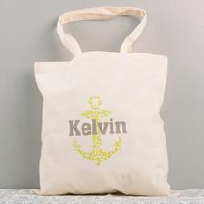 Cute Nautical Anchor Cotton Tote Bag