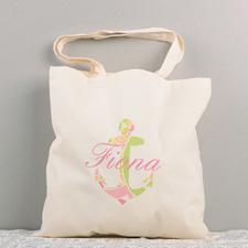 Colorful Nautical Anchor Cotton Tote Bag