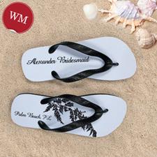 Fern Personalized Flip Flops, Women's Medium