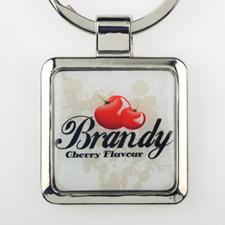 Custom Imprint Square Metal Keychain (Small)
