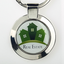 Custom Imprint Full Color Logo Round Keychain (Small)
