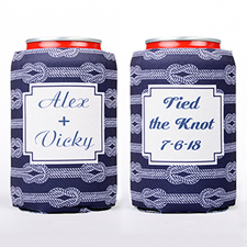Tied The Knot Personalized Can Cooler