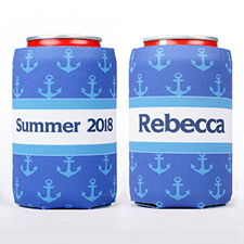 Nautical Anchor Personalized Can Cooler