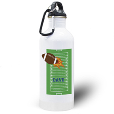 Football Personalized Kids Water Bottle