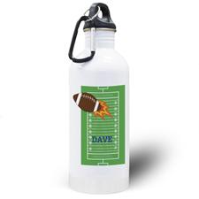 Football Personalized Kids Water Bottle