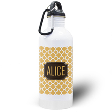 Orange Clover Personalized Water Bottle