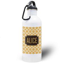 Orange Clover Personalized Water Bottle