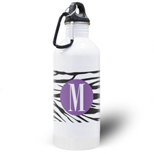 Zebra Print Personalized Water Bottle