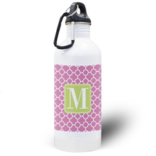 Fuchsia Clover Personalized Water Bottle