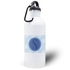 Blue Dots Personalized Water Bottle