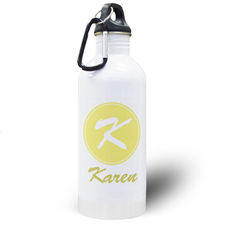 Personalized Name Yellow Water Bottle