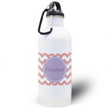 Carol Chevron Personalized Water Bottle