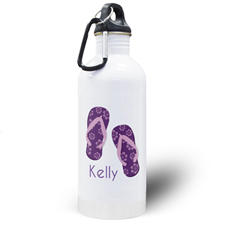 Flip Flops Personalized Water Bottle