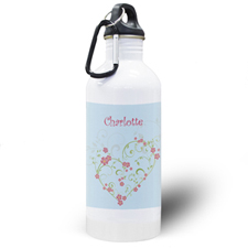 Floral Bridesmaid Personalized Water Bottle
