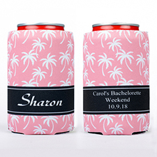 Carol Palm Tree Personalized Can Cooler