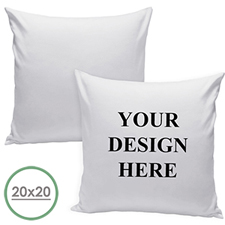 Custom Front Pillow (White Back) 20x20 (NO INSERT)