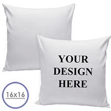Custom Front Pillow (White Back) 16x16 (NO INSERT)