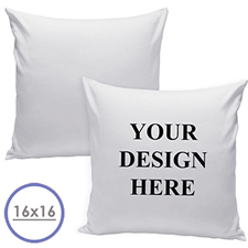 16 X 16 Custom Design Pillow (White Back)  Cushion (No Insert)