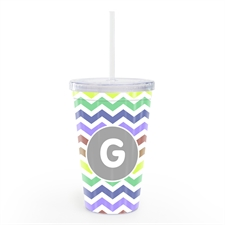 Natural Zig Zag Chevron Personalized Tumbler