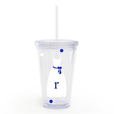 White Blue Bridesmaid Dress Custom Insulated Tumbler