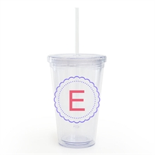 Customize Lavender Floral Acrylic Double Wall Tumbler
