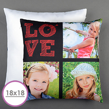 Love Arrow Red Personalized Large Cushion 18