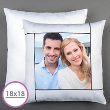 White Personalized Large Cushion 18
