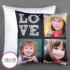 Love Arrow White Personalized Large Cushion 18