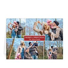 4 Photo Collage Love Piece Joy - Red