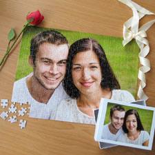 Custom Large Wedding Photo Jigsaw Puzzle, Horizontal