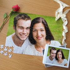 Custom Large Wedding Photo Jigsaw Puzzle, Horizontal