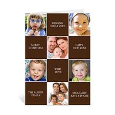 6 Photo Collage Merry Merry Merry - Chocolate