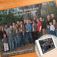 Custom Large Birthday Photo Jigsaw Puzzle