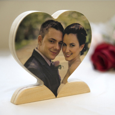 Personalized Wooden Photo Heart Decor